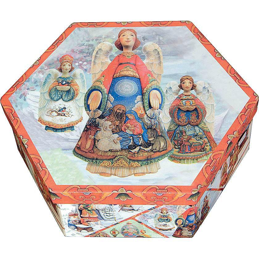 {}  Подарочная коробка Ангелы  (23х23х8 см) настенная плитка mainzu craft brown 20x20