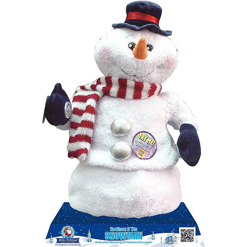 {}  Электромеханическая игрушка Снеговик  (40 см) мягкая игрушка арти м 29 см снеговик 861 002