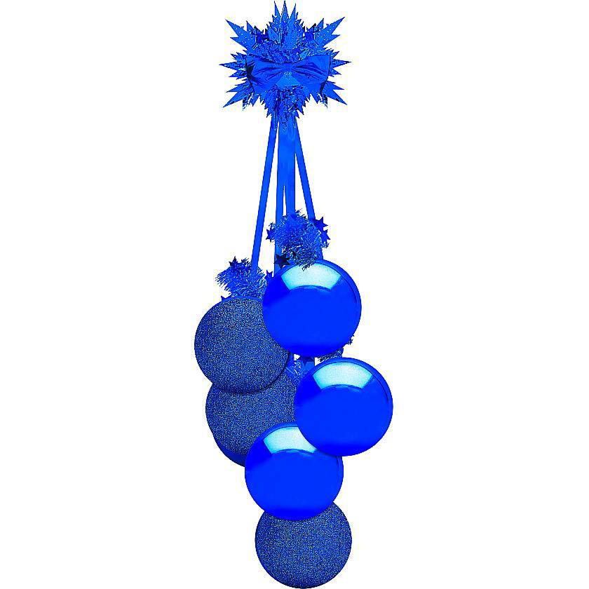 {}  Украшение Гроздь Шаров Цвет: Cиний (60 см) бусы из янтаря гроздь