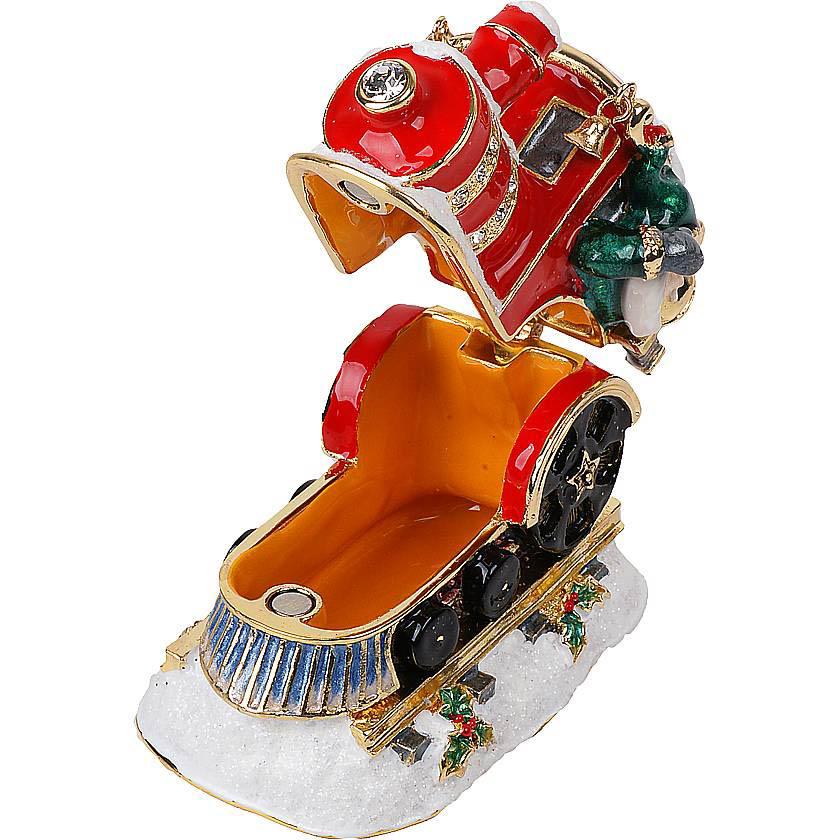 {}  Шкатулка Поезд (6 см) шкатулка декоративная свадебный торт 10 5 8 6 см металл