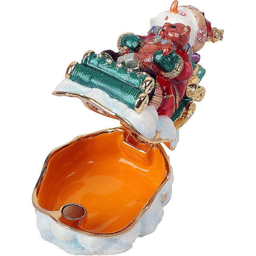 {}  Шкатулка Снеговик (6 см) шкатулка декоративная свадебный торт 10 5 8 6 см металл