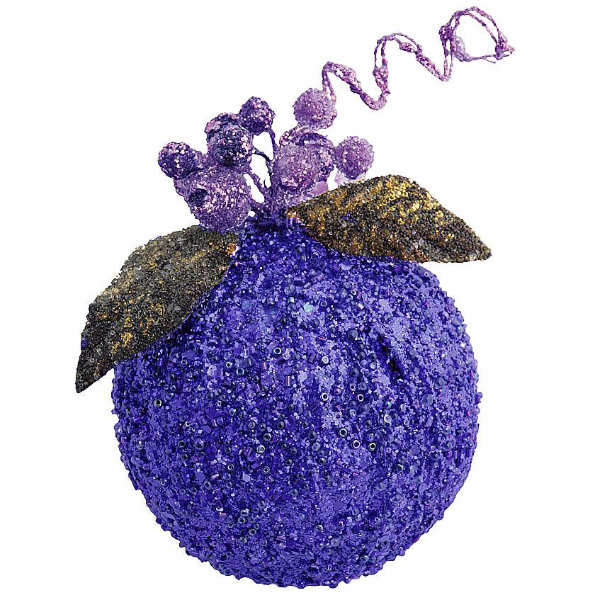 {}  Украшение Шар Цвет: Синий (7 см) украшение для интерьера сверкающий шар