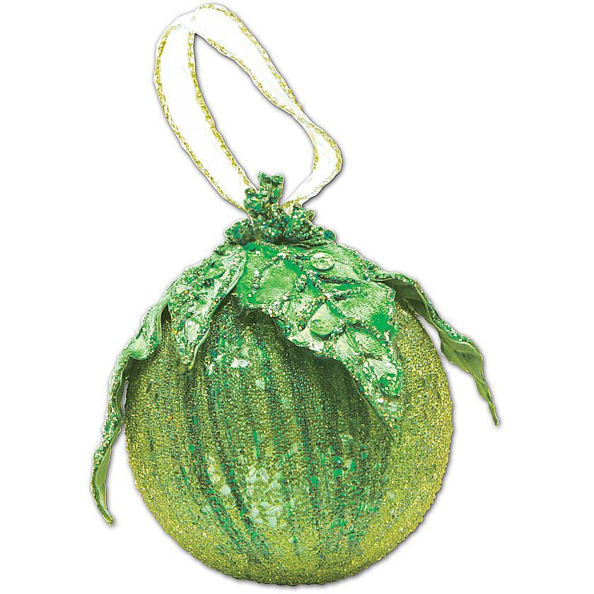 {}  Украшение Шар Цвет: Зеленый (10 см) украшение для интерьера сверкающий шар