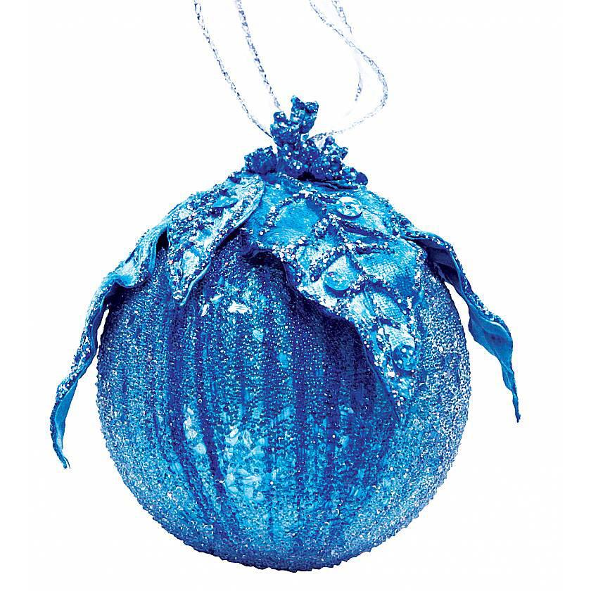 {}  Украшение Шар Цвет: Синий (8 см) украшение для интерьера сверкающий шар