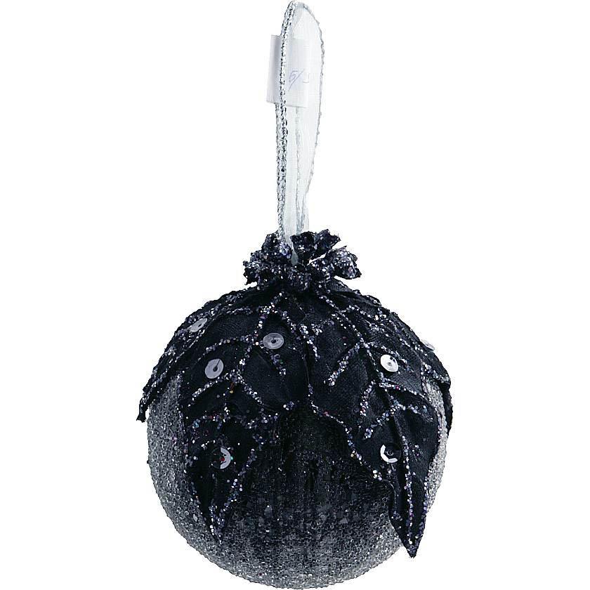 {}  Украшение Шар Цвет: Черный (8 см) украшение для интерьера сверкающий шар