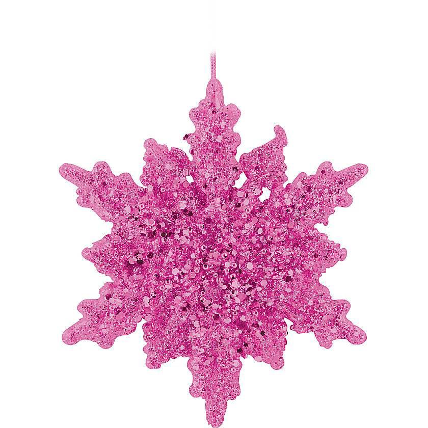 {} Украшение Снежинка Цвет: Розовый (16 см) сумка для коврика венера 16 см 70 см розовый