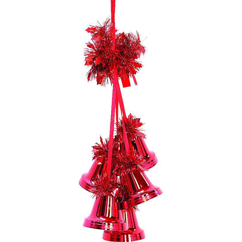 {}  Украшение Гроздь Колоколов Цвет: Красный (60 см) бусы из янтаря гроздь