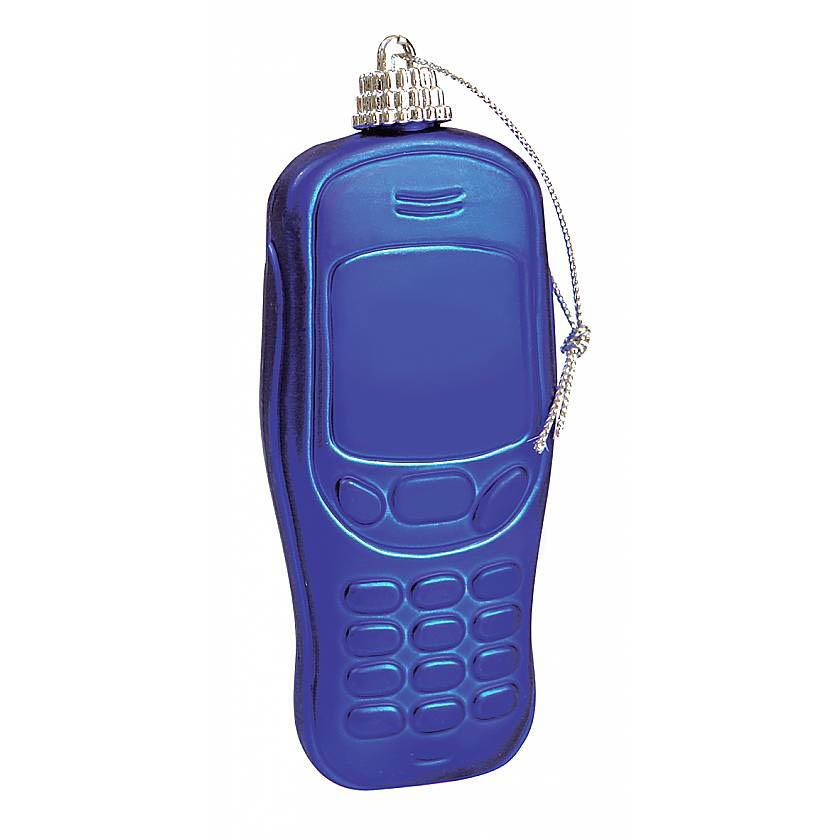 {}  Елочное украшение Телефон Цвет: Cиний (8 см)