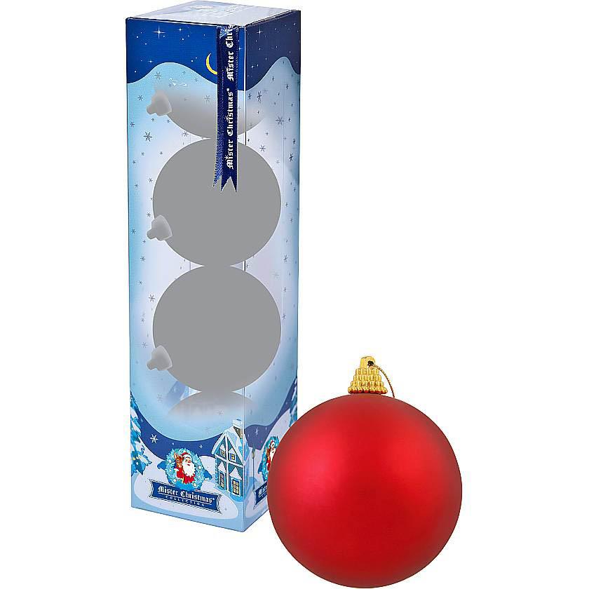 {} Набор шаров Christmas Time Цвет: Красный матовый (6 см - 4 шт) набор шаров 6 см monte christmas набор шаров 6 см