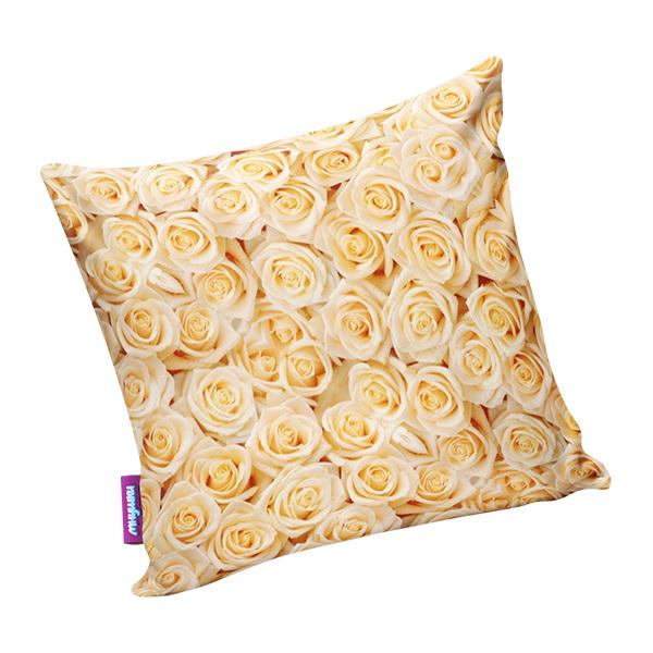 Декоративные подушки Мнушки Декоративная подушка Чайные Розы Цвет: Оранжевый (34х34) декоративные подушки оранжевый кот подушка игрушка медведь чистые погоны чистая совесть