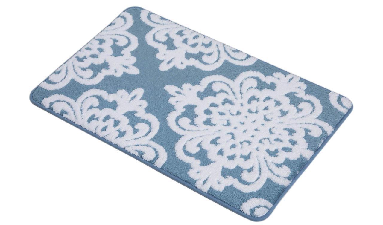 Аксессуары для ванной и туалета Arya Коврик для ванной Paros Цвет: Голубой, Белый (50х80 см) коврик для ванной арти м 50х80 см розанна
