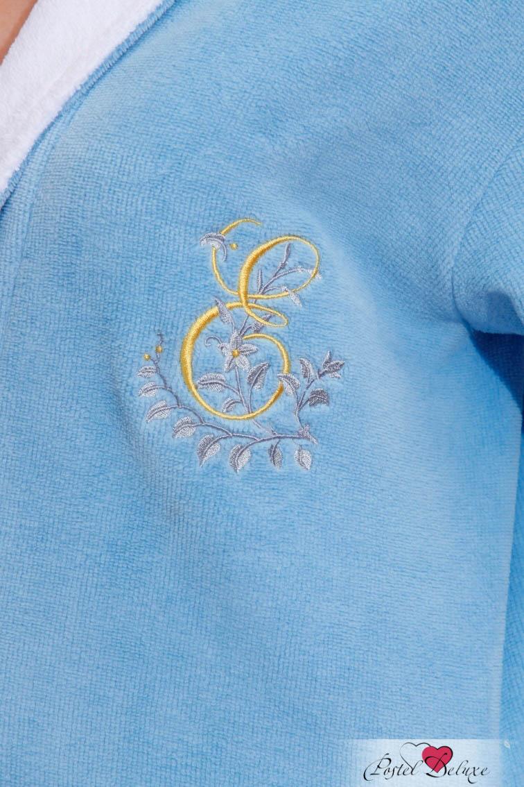 Сауны, бани и оборудование Peache Monnaie Халат Lady Eva Цвет: Голубой (ххL)