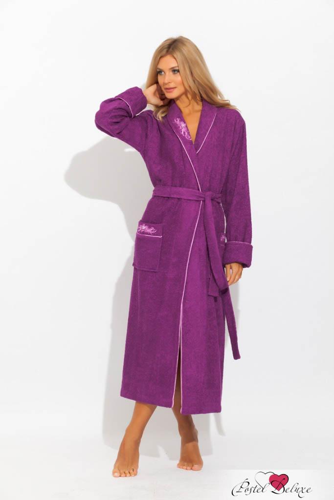 Сауны, бани и оборудование Peache Monnaie Халат Flores Цвет: Фиолетовый (M) сауны бани и оборудование estia халат пьер цвет бежевый m