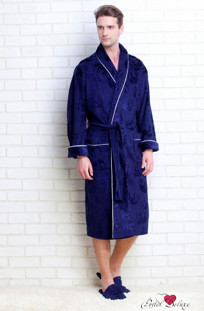 Сауны, бани и оборудование Peache Monnaie Халат Слоники Цвет: Темно-синий (хL)