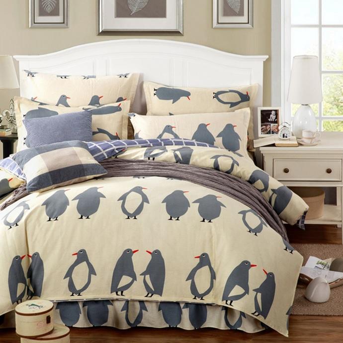 Постельное белье Riteil Постельное белье Пингвины (2 сп. евро) постельное белье мартекс постельное белье микрофибра 5d евро роза букет