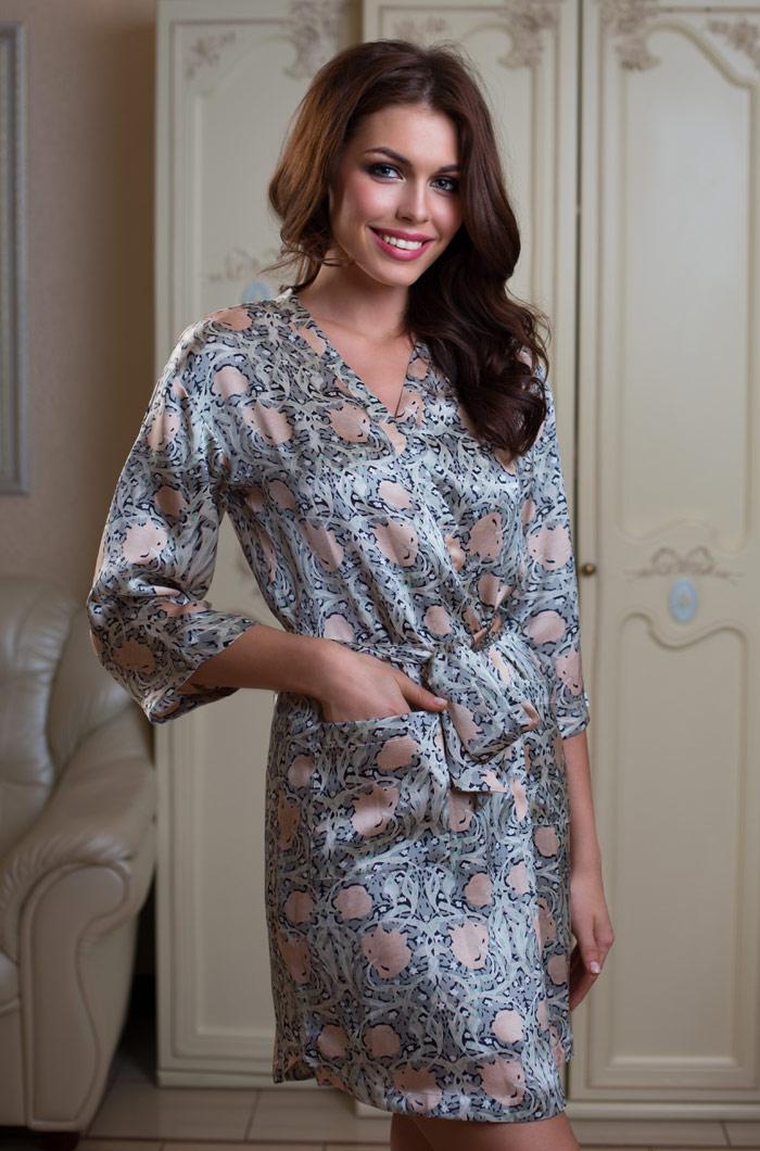 Домашние халаты Mia-Mia Домашний халат Diora (M) павлово посадский шелк