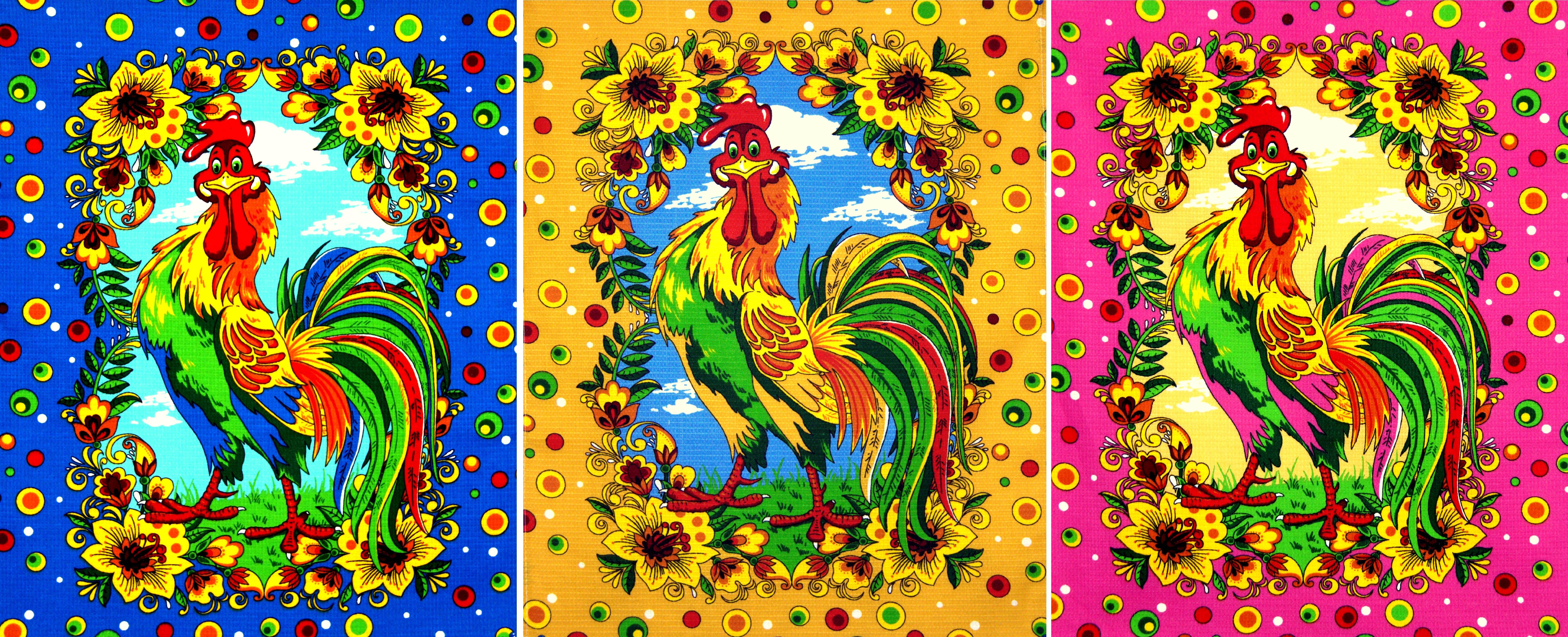 {} Elegante Кухонное полотенце Петухи Лето (45х60 см - 3 шт) полотенца jollein муслиновое полотенце пончо 45х60 см