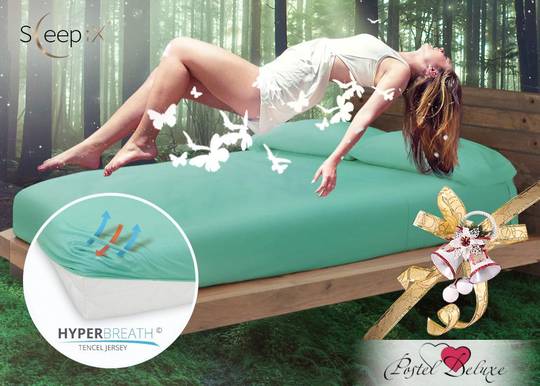 Простыни Sleep iX Простыня на резинке Alpin Цвет: Морской Зеленый  (160х200) насос универсальный x alpin sks 10035 пластик серебристый 0 10035