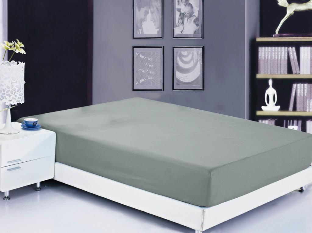Простыни Valtery Простыня на резинке Ellery Цвет: Мокрый Асфальт (90х200)