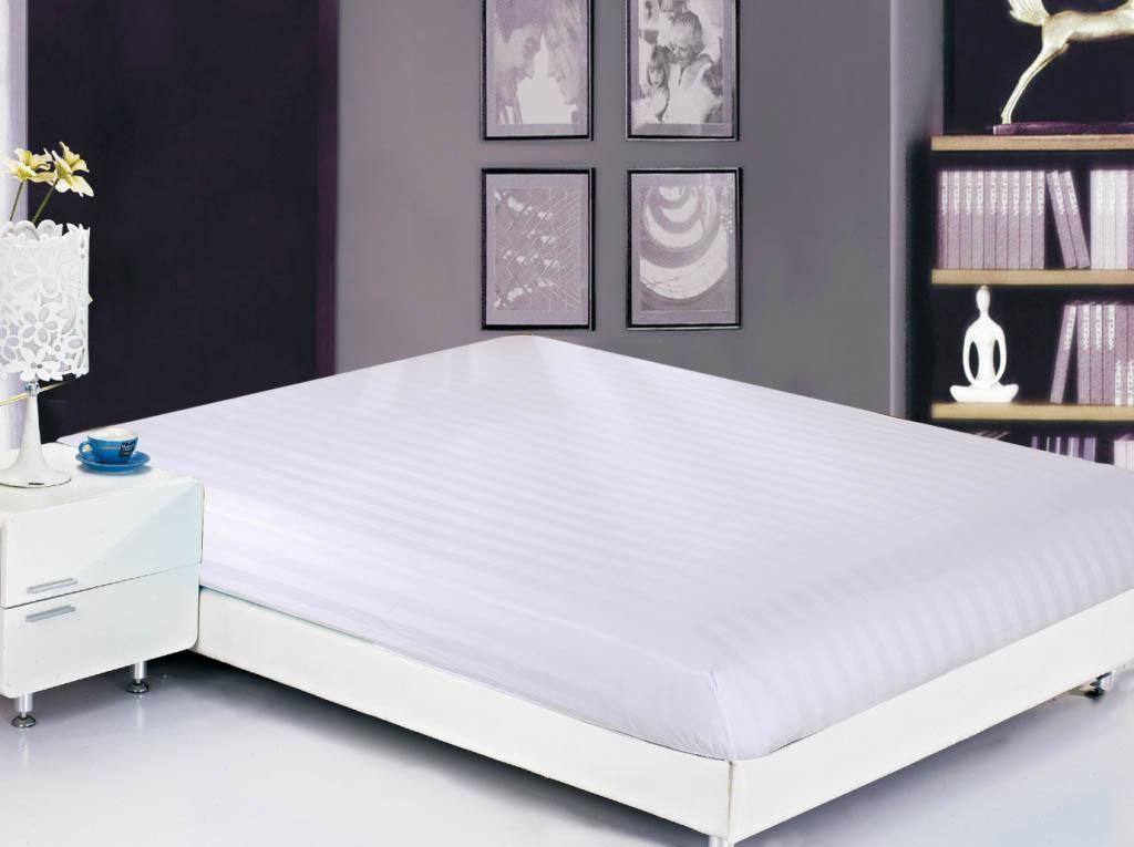 Простыни Valtery Простыня на резинке Lonnie Цвет: Белый (90х200)