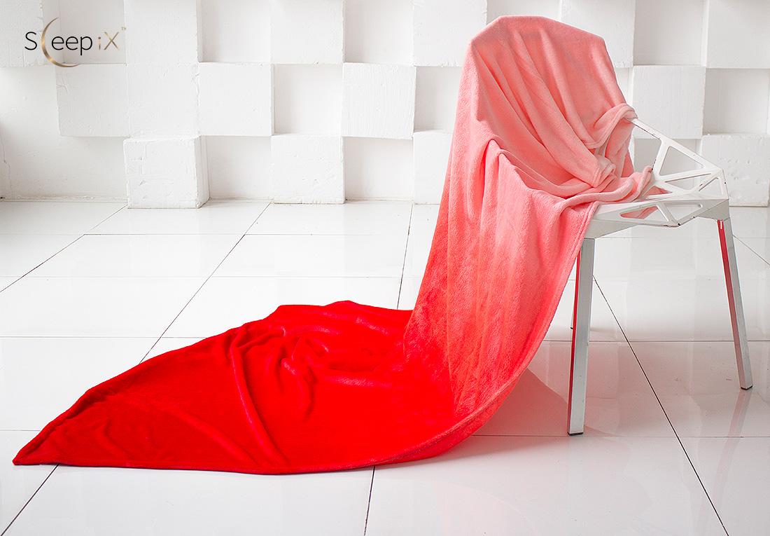 Плед Sleep iX Плед Plushy Ombre Цвет: Красный (150х200 см) плед из микрофибры минни маус shopping цвет красный 150 см х 200 см
