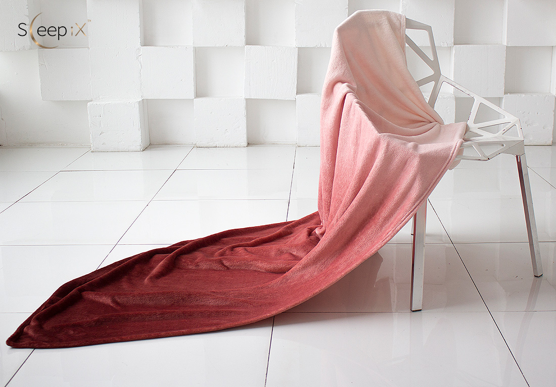Плед Sleep iX Плед Plushy Ombre Цвет: Шоколадный (150х200 см)