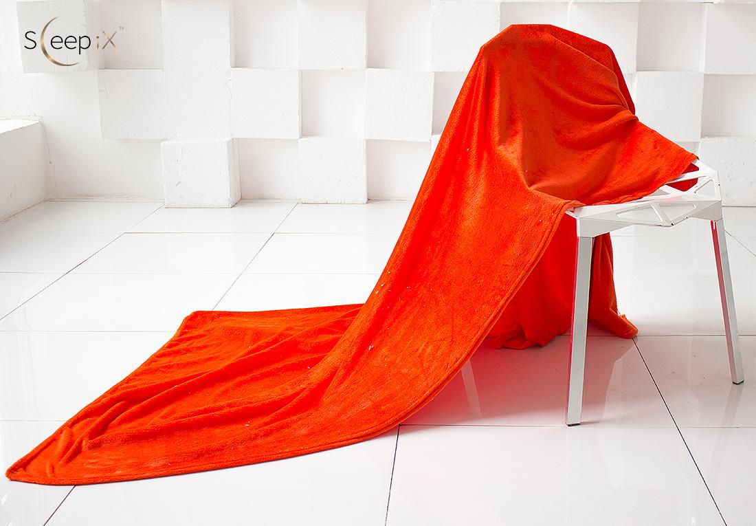 Плед Sleep iX Плед Plushy Цвет: Оранжевый (200х220 см) siemens lc 91 ba 582 ix