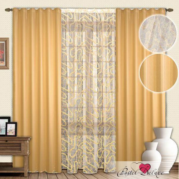 Шторы РеалТекс Классические шторы Darrel Цвет: Золото шторы реалтекс классические шторы alberta цвет персиковый молочный