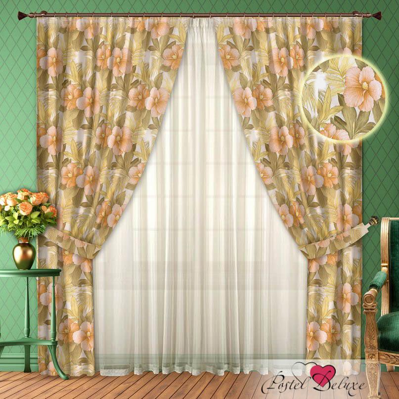 Шторы РеалТекс Классические шторы Elfrieda Цвет: Персик шторы tac классические шторы winx цвет персиковый 200x265 см