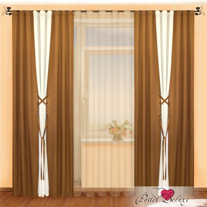Шторы РеалТекс Классические шторы Amey Цвет: Шоколад-Шампань шторы primavera классические шторы maev цвет персиковый