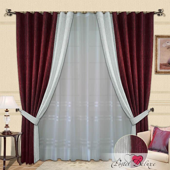 Шторы РеалТекс Классические шторы Millie Цвет: Бордовый шторы tac классические шторы winx цвет персиковый 200x265 см