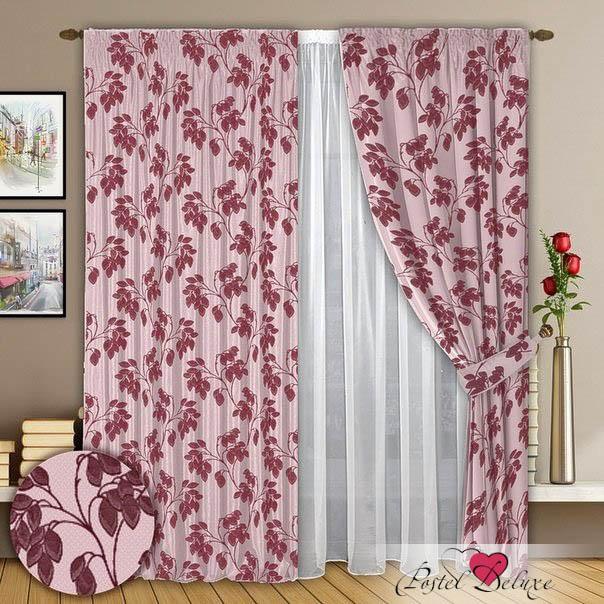 Шторы РеалТекс Классические шторы Phoebe Цвет: Брусника шторы tac классические шторы winx цвет персиковый 200x265 см