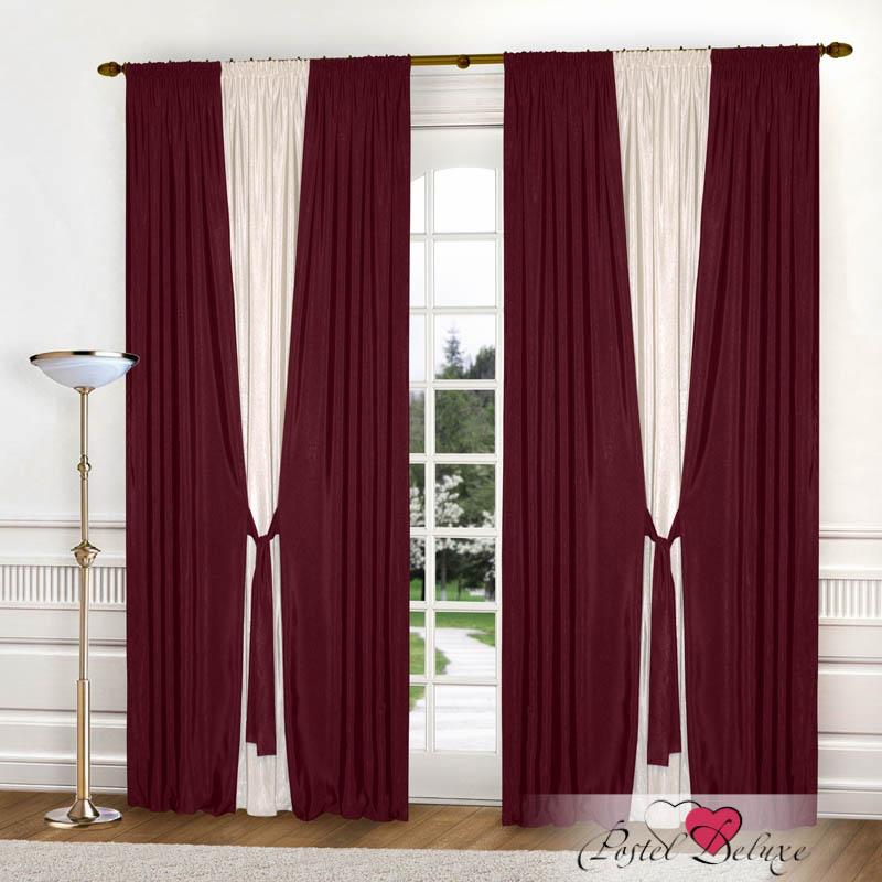 Шторы РеалТекс Классические шторы Somon Цвет: Бордовый шторы tac классические шторы winx цвет персиковый 200x265 см
