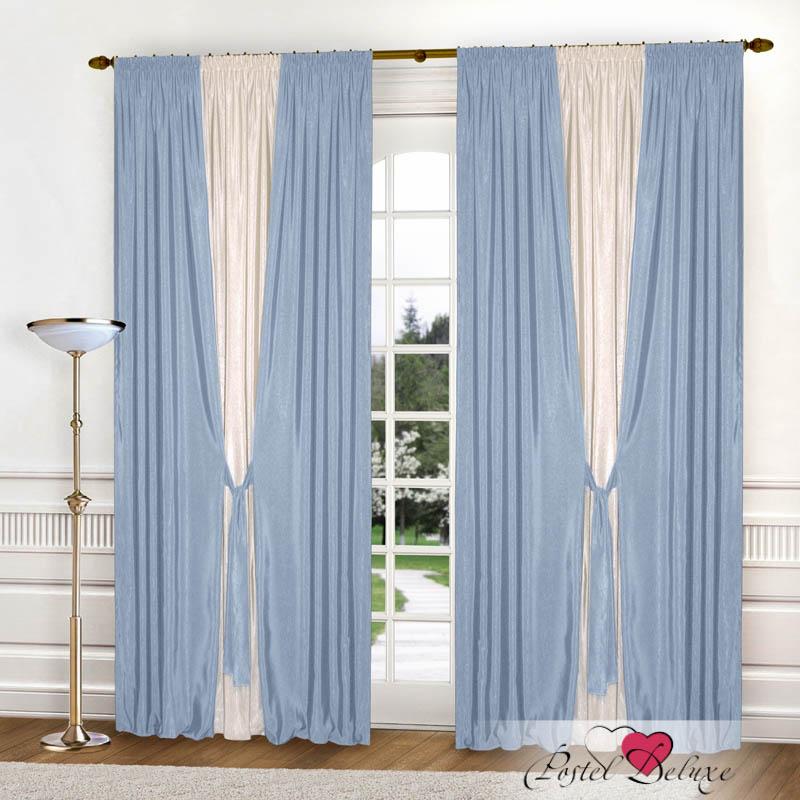 Шторы РеалТекс Классические шторы Somon Цвет: Голубой шторы реалтекс классические шторы alberta цвет персиковый молочный