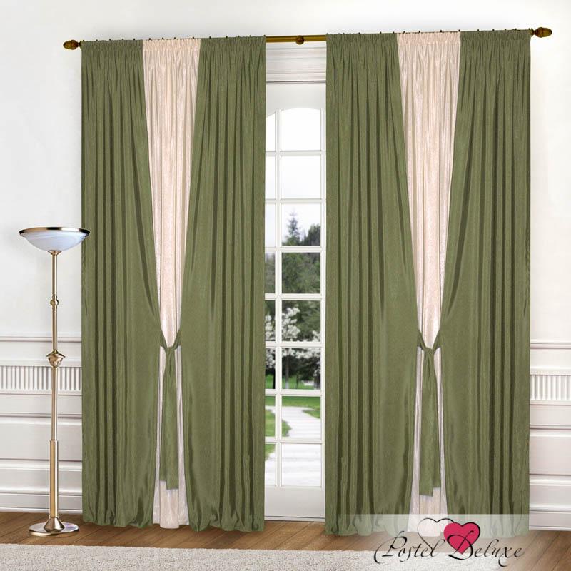 Шторы РеалТекс Классические шторы Somon Цвет: Оливковый шторы реалтекс классические шторы alberta цвет персиковый молочный