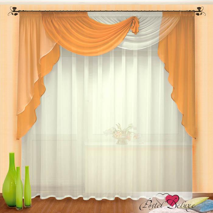 Шторы РеалТекс Шторы с ламбрекеном Stancia Цвет: Персиковый шторы реалтекс классические шторы alberta цвет персиковый молочный