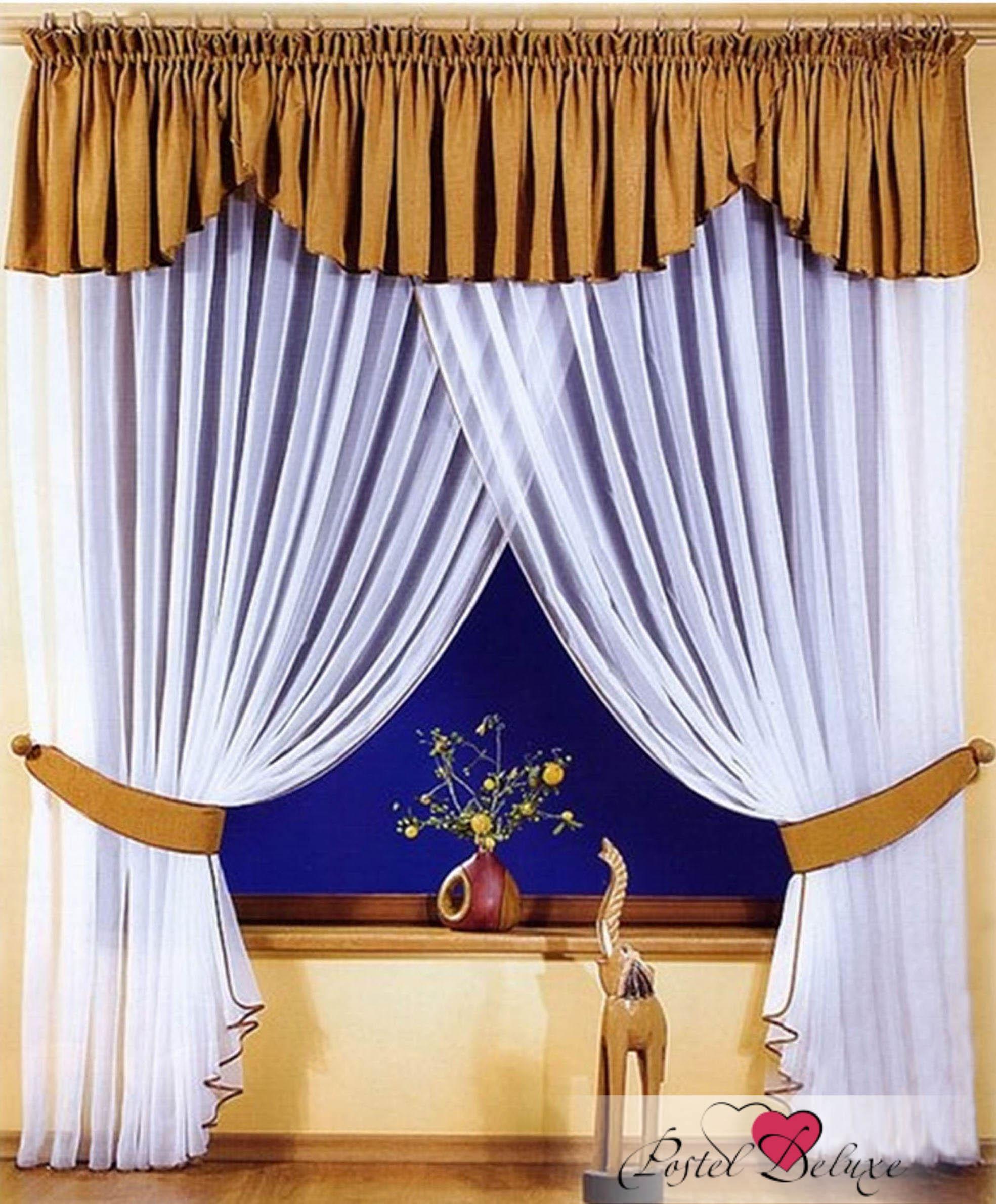 Шторы РеалТекс Шторы с ламбрекеном Pars Цвет: Молочный Шоколад шторы реалтекс классические шторы alberta цвет персиковый молочный