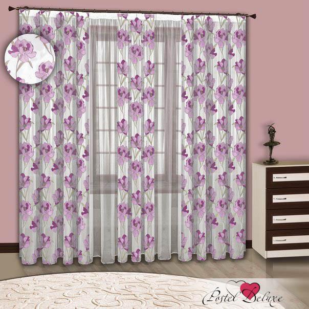 Шторы РеалТекс Классические шторы Beatrix Цвет: Сиреневый шторы tac классические шторы winx цвет персиковый 200x265 см