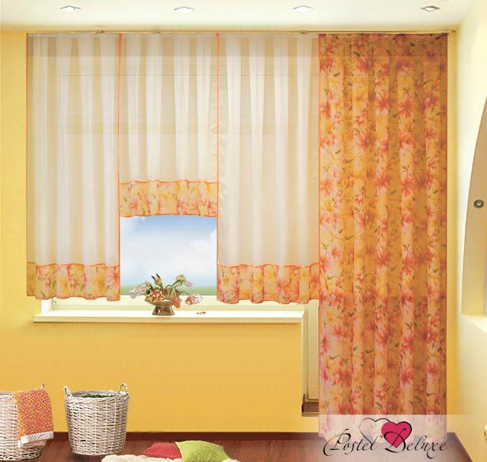 Шторы РеалТекс Классические шторы Лилии Цвет: Оранжевый шторы tac классические шторы winx цвет персиковый 200x265 см