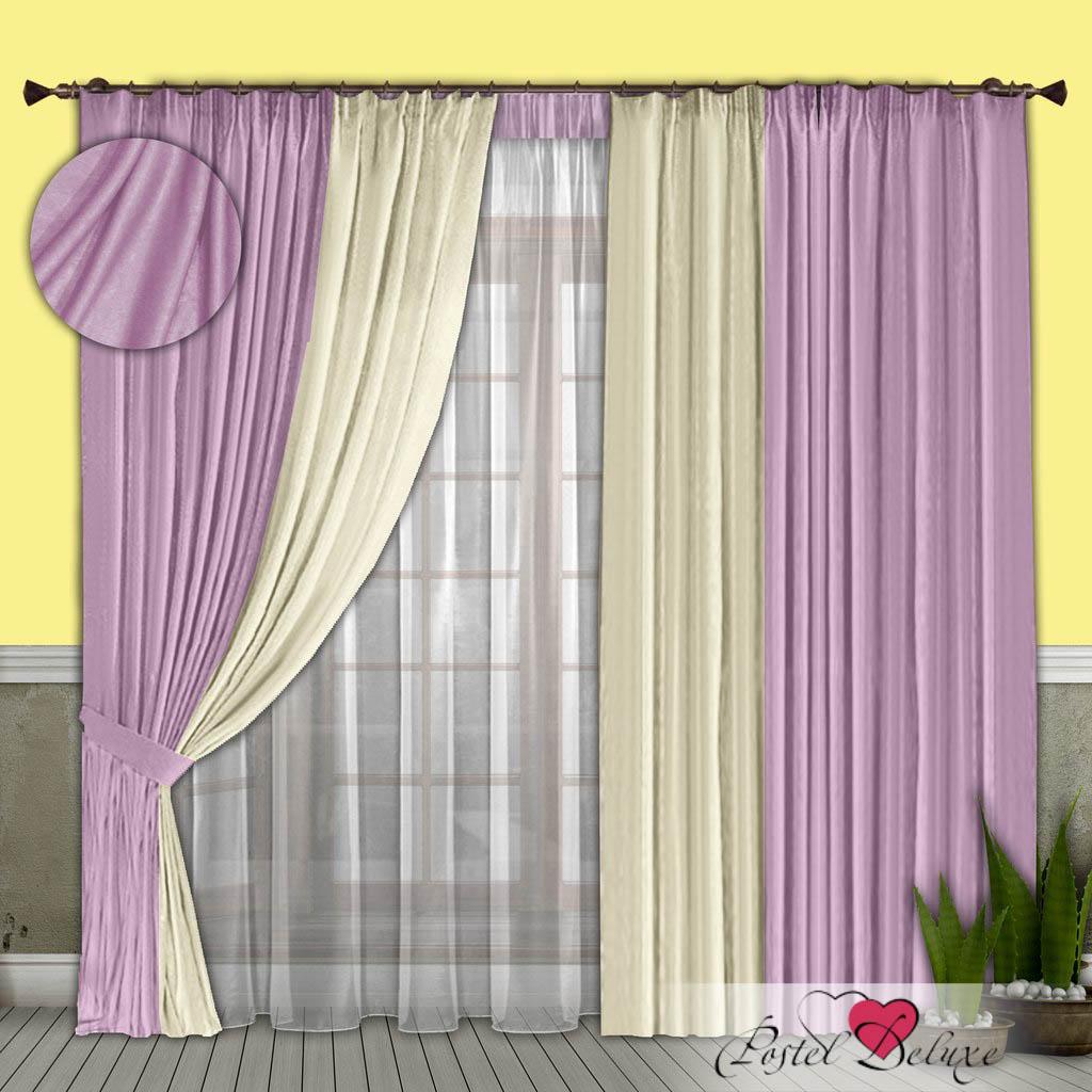 Шторы РеалТекс Классические шторы Alberta Цвет: Сиреневый-Молочный шторы реалтекс классические шторы alberta цвет персиковый молочный