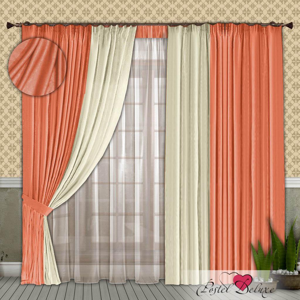 Шторы РеалТекс Классические шторы Alberta Цвет: Персиковый-Молочный шторы реалтекс классические шторы alberta цвет персиковый молочный