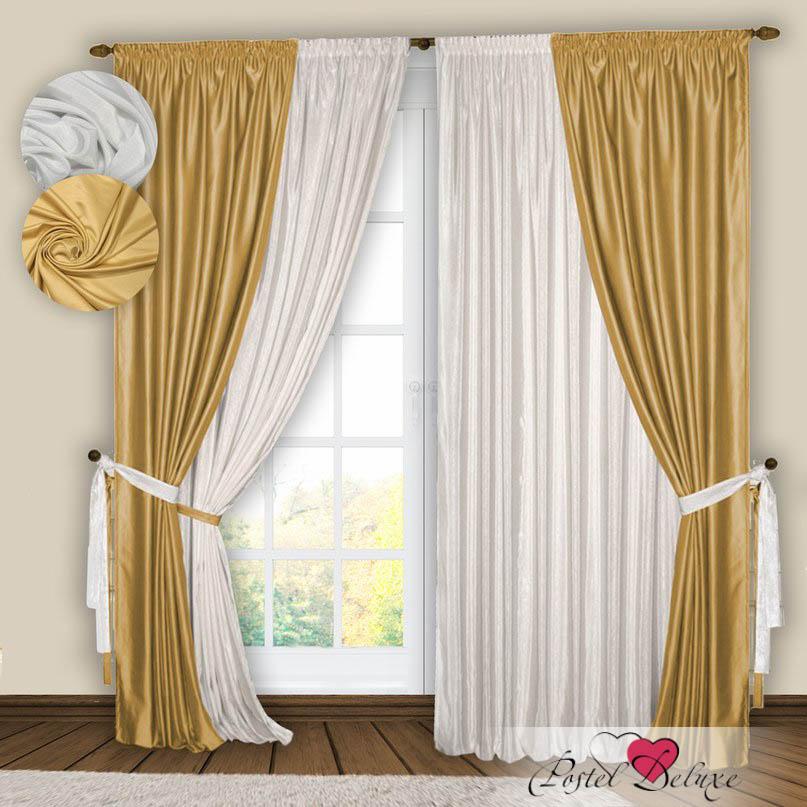 Шторы РеалТекс Классические шторы Gulistan Цвет: Белый-Золото шторы реалтекс классические шторы alberta цвет персиковый молочный