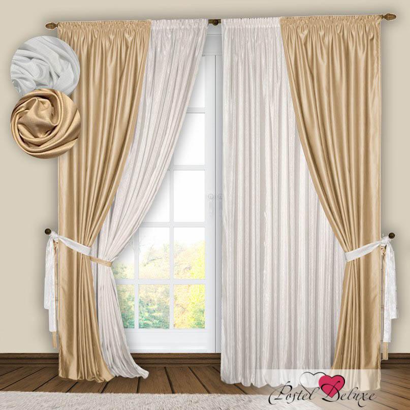 Шторы РеалТекс Классические шторы Gulistan Цвет: Белый-Ваниль шторы реалтекс классические шторы alberta цвет персиковый молочный