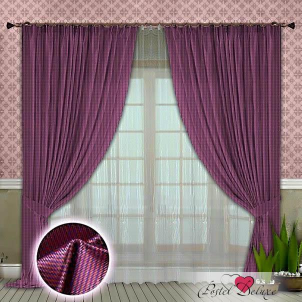 Шторы РеалТекс Классические шторы Rezzato Цвет: Сиреневый шторы tac классические шторы winx цвет персиковый 200x265 см
