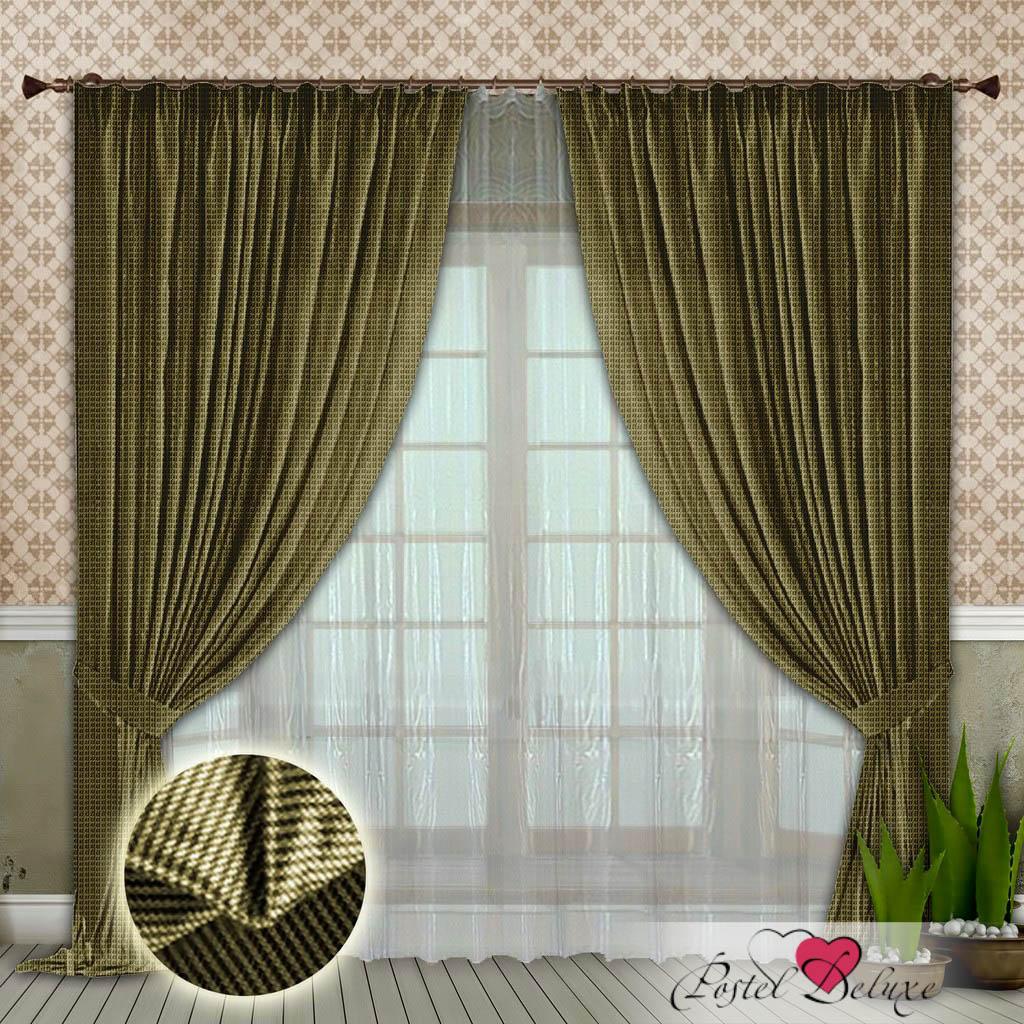 Шторы РеалТекс Классические шторы Rezzato Цвет: Оливковый шторы tac классические шторы winx цвет персиковый 200x265 см