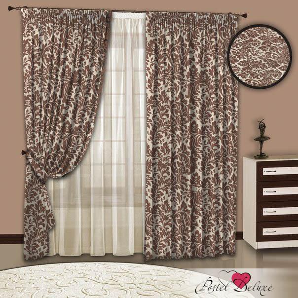 Шторы РеалТекс Классические шторы Alejandra Цвет: Какао шторы tac классические шторы winx цвет персиковый 200x265 см