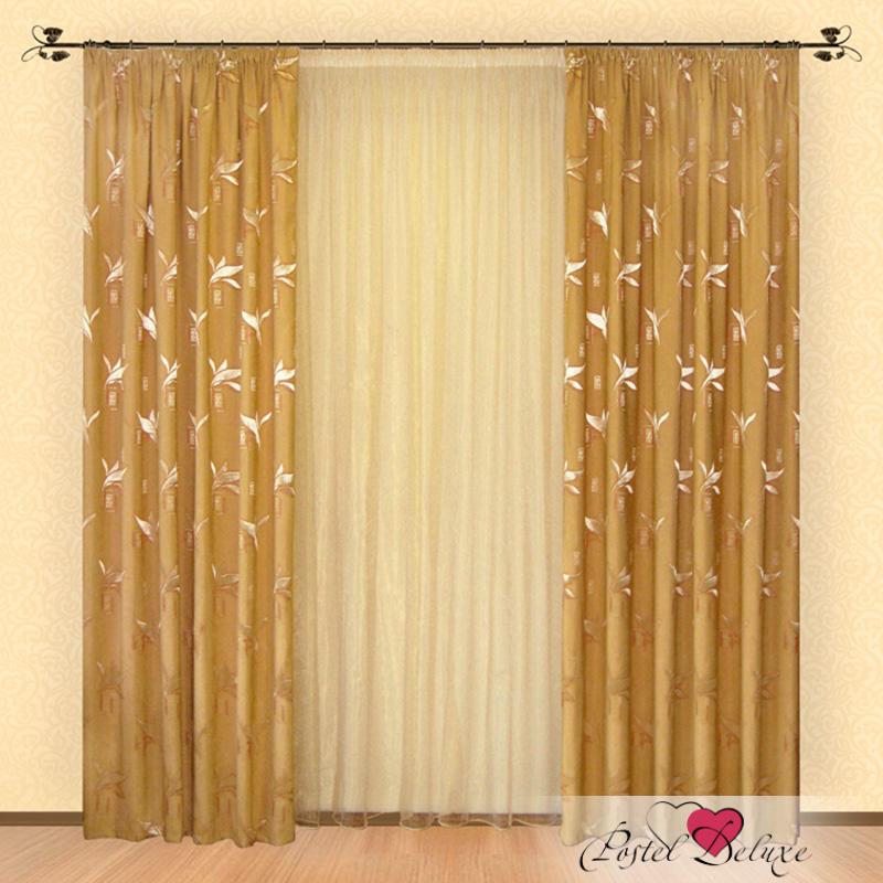 Шторы РеалТекс Классические шторы Nayeli Цвет: Золотой шторы tac классические шторы winx цвет персиковый 200x265 см