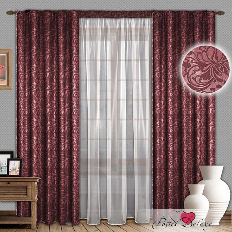 Шторы РеалТекс Классические шторы Nayeli Цвет: Бордовый шторы реалтекс классические шторы alberta цвет персиковый молочный
