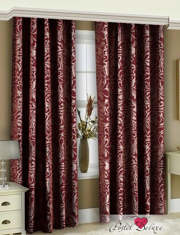 Шторы РеалТекс Классические шторы Casto Цвет: Бордовый шторы реалтекс классические шторы alberta цвет персиковый молочный