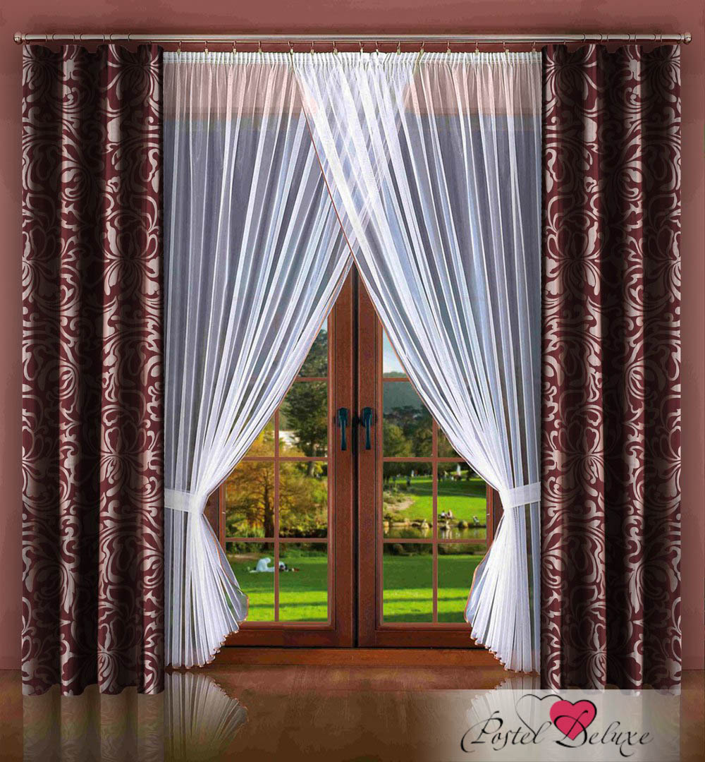 Шторы РеалТекс Классические шторы Alleric Цвет: Бордо шторы primavera классические шторы maev цвет персиковый